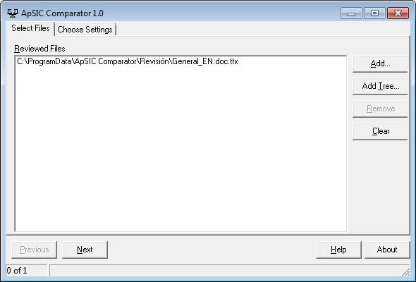 ApSIC Comparator traducción TTX