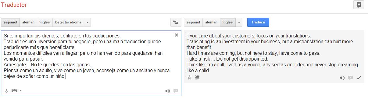 Traducir con Google?